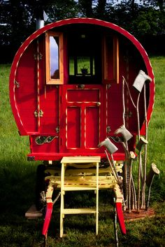 Is this glamping? Inspired Camping in a Gypsy Caravan - click the image for more.