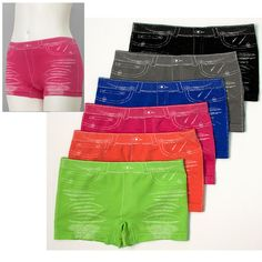6 Pairs Womens Seamless Panties Jeans Hot Boy Shorts Underwear Sexy Set Pack #Mamia #Boyshorts