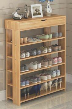 Shoe Shelf In Closet, Closet Door Storage, Diy Shoe Storage, Diy Shoe Rack, Hallway Storage, Storage Ideas, Closet Organization, Organization Ideas, Bedroom Storage