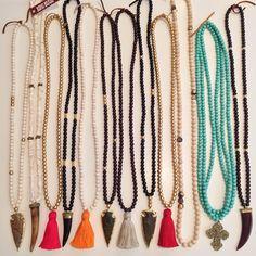 Boho Beads necklaces!!