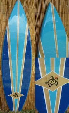 Blue Lagoon Decorative Surfboard Wall Art Decor Surfboard decor, beach decor, surfer, decorative surfboard wall art turtle