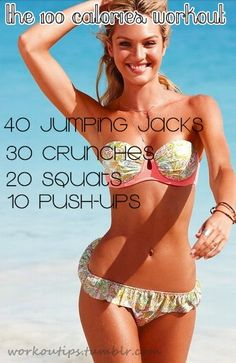 100 calories workout fitness workout exercise diy workout workout motivation exercise motivation exercise tips workout tutorial exercise tutorial diy workouts diy exercise diy exercises calorie workout food# Wellness Fitness, Body Fitness, Fitness Tips, Health Fitness, Workout Fitness, Basic Workout, Monday Workout, Workout Challenge, 100 Calorie Workout