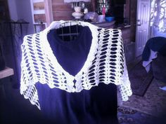 Front of shawl i just made. # 10 thread.