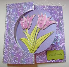 Sizzix Flip it card with Elizabeth Craft Designs Shimmer Sheet and Peel-Offs, colored with Pan Pastels