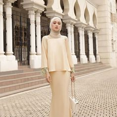 """JANNAHNOE 1207936-H on Instagram: """"LESS IS MORE! We all love plain kurung right? Adding some minimal and simple details will sparks up your look! So here is our new — Esther…"""" Will Sparks, Spark Up, Hijab Dress, Less Is More, Love Is All, You Look, Minimalism, Detail, Simple"""