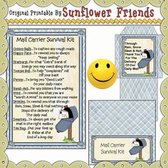 Mail Carrier Survival Kit We Energies, Survival Kits, Retirement Parties, Appreciation Gifts, Novelty Gifts, Coloring Sheets, Craft Supplies, Clip Art, Printables