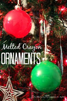 #DIY Melted Crayon Christmas Ornaments!