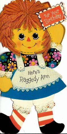 Raggedy Ann birthday card