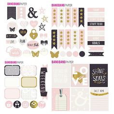 LOVELY - Planner Stickers Set, Erin Condren, Happy Planner, Kikki K, Functional Stickers, Pink, Decorative Stickers