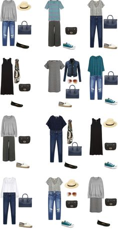 These are 24 outfits from the pieces of the list to work for the 10 day What to Pack for Phoenix, Arizona list from Wednesday. A quick………