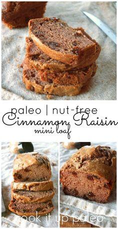Paleo Cinnamon Raisin Bread made with Otto's Naturals Cassava Flour | Cook It Up Paleo