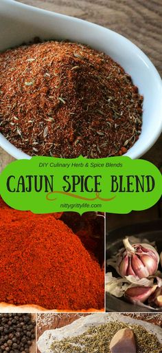 A flavor with profound soul & flair, Cajun spice is a bold blend of paprika, cayenne, onions, garlic, black pepper, and even a little celery seed & fennel.  Perfect for shrimp and grits, roast chicken, or even you Bloody Mary! via @nittygrittylife