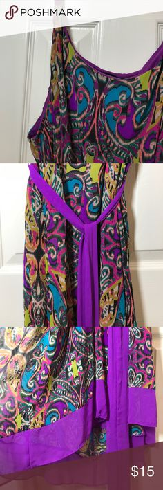 Lane Bryant Hi-Lo Dress Super flirty dress, great for a late summer party. Sheer fabric with lining. Lane Bryant Dresses High Low