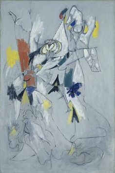 Arshile Gorky - óleo sobre tela - 97 x 24 cm - 1943 - (Hirshhorn Museum and Sculpture Garden (Washington, United States)) Tachisme, Modern Art, Contemporary Art, Art Database, American Artists, Oeuvre D'art, Impressionism, Creative Art, Oil On Canvas