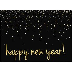 Confetti Happy New Years Greeting Cards | On The Ball Promotions
