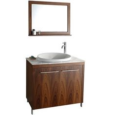 Modern bath vanity with mid-century appeal