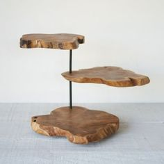 Natural Teak Serving Stand: I just love the look of this!