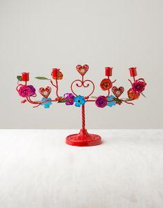 WOODLAND ADVENT ljusstake röd | Candlestick/candelab | Ljus & Lyktor | Home | INDISKA Shop Online