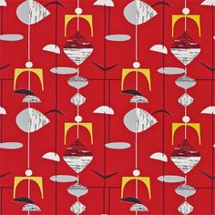 Sanderson - Traditional to contemporary, high quality designer fabrics and wallpapers | Products | British/UK Fabric and Wallpapers | Mobiles (DFIF210212) | 50s Wallpapers