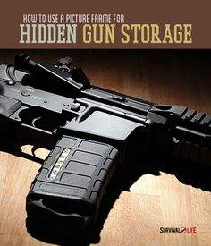 How To Use A Picture Frame For Hidden Gun Storage | There are all kinds of practical reasons to hide your guns in your home. Keep your family safe and your friends impressed with this awesome hidden storage idea! www.survivallife.com #survivallife