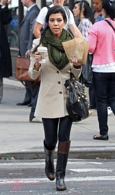 black and brown riding boots as worn by Kourtney Kardashian (those are Chanel, but most Italian shoemakers have these as they are classics)