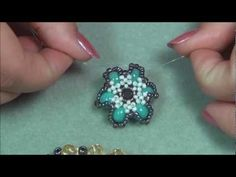 This is the most advanced beading tutorial that I have made so far. Diy Jewelry Videos, Jewelry Crafts, Beaded Jewelry Patterns, Beading Patterns, Beaded Anklets, Beaded Bracelets, Beading Tutorials, Loom Beading, Bead Art