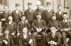 Group portrait of Library staff in 1893