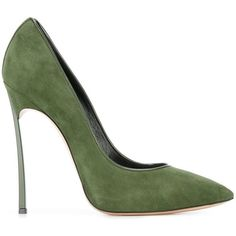 Casadei stiletto pumps ($575) ❤ liked on Polyvore featuring shoes, pumps, heels, sapatos, green, high heel stilettos, green stilettos, stiletto heel shoes, genuine leather shoes and green heeled shoes