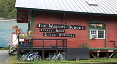 Home of the most delicious burger in Vermont: Worthy Burger in South Royalton, VT