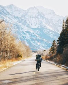 The fastest way into Glacier Park when the roads are closed for the season. Heading in for a night on the shores of St. Mary Lake. Such a surreal feeling riding on the deserted Going To The Sun Road. #stayandwander