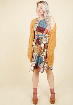 Girl Meets Twirl A-Line Dress in Patchwork | Mod Retro Vintage Dresses | ModCloth.com