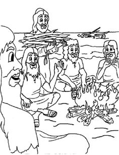 paul shipwrecked coloring page