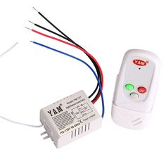 New Arrival Remote Control Switch For Lamp Light 1 Way Port 110V LED Light Digital Wireless Wall Remote Control Switch  HR #Affiliate