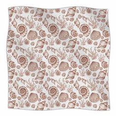 "East Urban Home 'Seashells' By Alisa Drukman Fleece Blanket Size: 80"" L x 60"" W x 1"" D, Color: Brown"