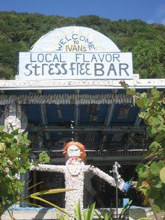 Ivan's Bar at White Bay, Jost Van Dyke in the BVIs
