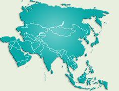 asia map continent | Immobilier et propriétés Asie
