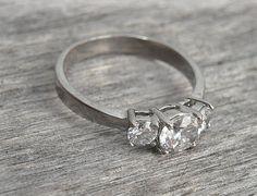 Vintage Princess Cut Diamond Ring