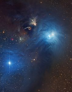 Stars and Dust in Corona Australis : Cosmic dust clouds and young, energetic stars inhabit this telescopic vista, less than 500 light-years away toward the northern boundary of Corona Australis, the Southern Crown. The dust clouds effectively block light from more distant background stars in the Milky Way.
