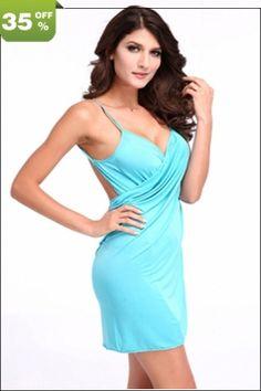 35% OFF On Light Blue Bikini #Dress Wear Only US$ 2.30. Order Now & Save Money! http://www.feelingirldress.com/Light-Blue-Bikini-Dress-Wear-p2689.html #BeachDress #Lingerie #SexySummerDress