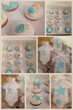 Christening cupcakes and cookies