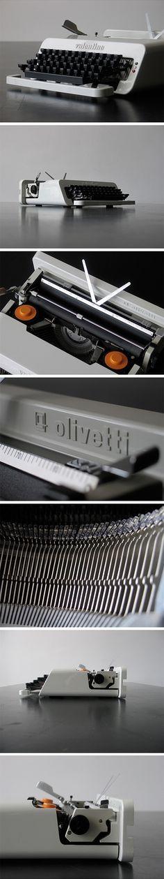 Olivetti Valentine S typewriter by Ettore Sotsass (1969)