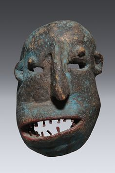 New exhibition brings African art to Maine's shores Drama Masks, Ceramic Mask, Contemporary African Art, Blue Mask, Art Premier, Cool Masks, Masks Art, African Masks, Indigenous Art
