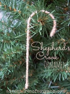 Adventures of a DIY Mom - Shepherd's Crook Ornament - Use for Good Shepherd visual art