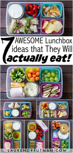 7 Awesome Kids Lunch Box Ideas that They Will Actually Eat Great ideas to choose from for those hungry young atheltes. 7 Awesome Kids Lunch Box Ideas that They Will Actually Eat – Lauren Greutman Cold Lunches, Toddler Lunches, Lunch Snacks, Clean Eating Snacks, Lunch Recipes, Baby Food Recipes, Healthy Recipes, Eat Lunch, Kid Snacks