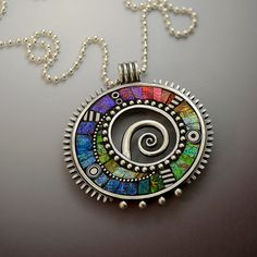 RESERVED Sterling silver pendant necklace with by LizardsJewelry, $400.00