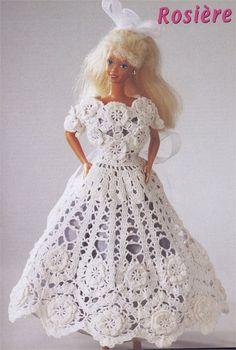 1000 MAILLES BARBIE 2048 - Daniela Muchut - Álbuns da web do Picasa...Barbie wedding outfits..free diagrams!
