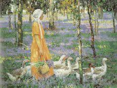 A Spring Morning. Irish Artist William Leech.