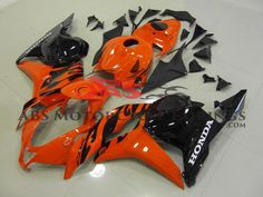 Orange & Black 2009-2012 Honda CBR600RR Kings Motorcycle Fairings Rear Seat, Honda, Bike, Orange, Black, Motorcycle, Halloween, Products, Bicycle Kick