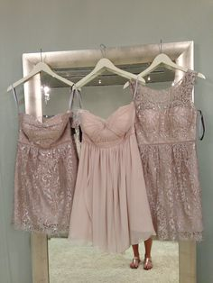 Jenny Yoo bridesmaids dresses at Fabulous Frocks - I LOVED this combo! What do you gals think?