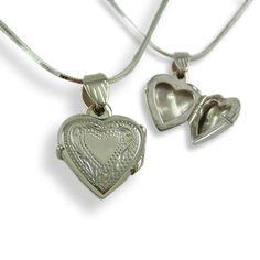 Child Heart Locket | Sterling Silver Locket Small | Flower Girl Locket | Girl Wedding Gift
